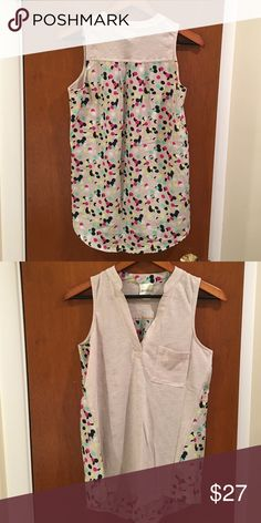 ANTHROPOLOGIE Porridge Bicoastal Tank Worn once - perfect for weekends!  Cotton/polyester.  Hand wash. Anthropologie Tops Tank Tops