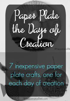 Paper Plate the Days of Creation. 7 inexpensive paper plate crafts, one for each day of creation. Kid's crafts for VBS, Sunday School, Children's Church, or home Sunday School Projects, Sunday School Kids, Sunday School Activities, Sunday School Lessons, School Children, School Ideas, Creation Bible Crafts, Bible Story Crafts, Bible School Crafts