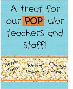 thank you for Popcorn Printable for primary teachers ...