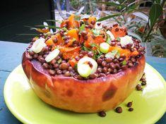 Sütőtökös lencsesaláta - AntalVali Naan, Acai Bowl, Breakfast, Food, Cilantro, Acai Berry Bowl, Morning Coffee, Essen, Meals