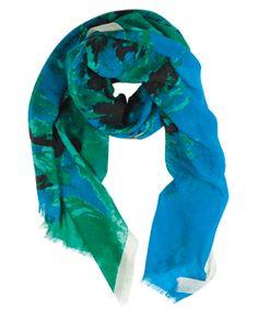 lightweight merino wool shawl splash deep blue - love blue and green and black.