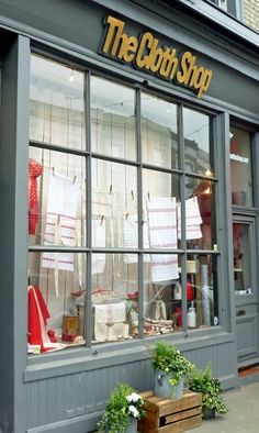 The Cloth Shop | Portobello Road, London Lots of lovely linen made from natural fibres in an array of colours