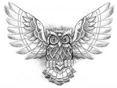 Incredible Owl Tattoo Design Wallpaper