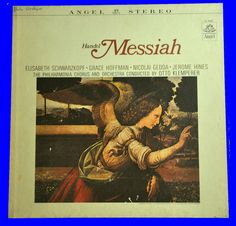 Handel: Messiah - Philharmonia Otto Klemperer 1965 Classical Opera LP #Opera