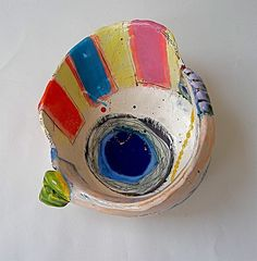Slipped earthenware bowl Linda Styles 2010 by Lnda Styles Unlimited, via Flickr