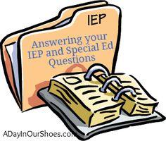 IEP advice plus printables and list of 500 SDIs