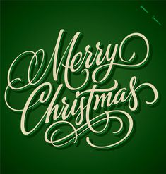 30 Creative Christmas Typography Designs for your Greeting Cards Christmas Typography, Christmas Fonts, Green Christmas, Christmas Printables, Christmas Colors, All Things Christmas, Christmas Time, Christmas Cards, Merry Christmas