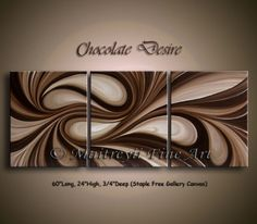 abstract paintings chocolate desire abstract art-chocolatey