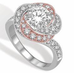 Ashi Diamonds two-tone twist diamond engagement ring | JCK On Your Market