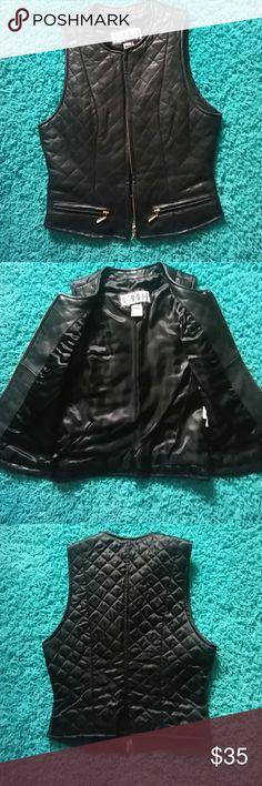 Studio Black leather vest Leather vest purchased great condition Studio Jackets & Coats Vests