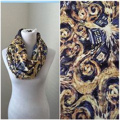 Doctor Who Scarf- exploding tardis- now available in regular and infinity! $24 (teen size/infinity)