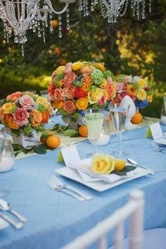 Outdoor-Wedding-Fruit-Flowers l StrictlyWeddings.com