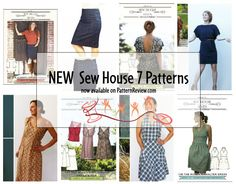 New Sew House 7 Patterns now available on PatternReview.com