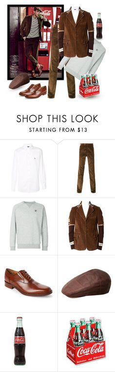 """""""Coca Cola - Vintage Style"""" by giovanina-001 ❤ liked on Polyvore featuring Ralph Lauren Blue Label, Prada, Fila, Cole Haan, Bailey of Hollywood, vintage, men's fashion and menswear"""