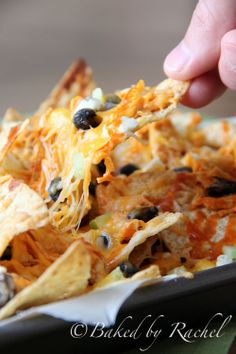 Buffalo Chicken Nachos Recipe from @Rachel {Baked by Rachel}