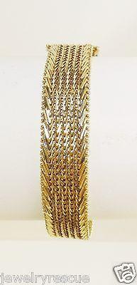 IMPERIAL-GOLD-Lavish-Wheat-Bracelet-14k-Yellow-Gold-7-25-Long-1-2-Wide-24g-USA