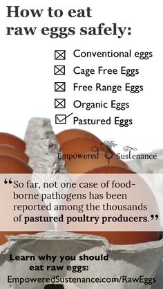 How to eat raw eggs safely (and why you should eat raw eggs!)for a friend - no I don't consume raw eggs Eggs How to Eat Raw Eggs Safely Health Facts, Health And Nutrition, Health Tips, Health Fitness, Raw Eggs Benefits, Incredible Eggs, Organic Eggs, Food Science, Eating Raw