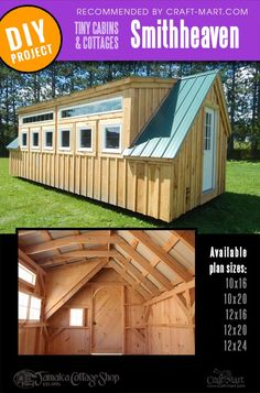 Adorable Small Cabin Kits and Cute Cottages (for sale and DIY fun) - Craft-Mart Woodworking Ideas To Sell, Japanese Woodworking, Woodworking Workshop, Popular Woodworking, Fine Woodworking, Small House Kits, Diy Cabin, Little Cottages, Cute Cottage