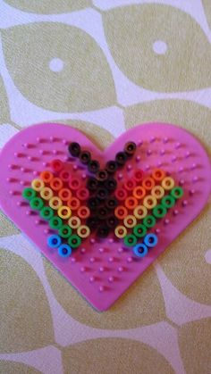 Butterfly beads ; strijkkralen vlinder