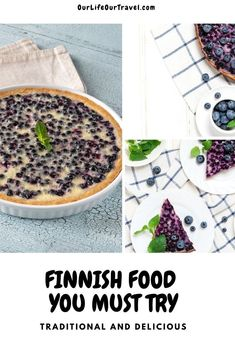 Best Finnish food you must try - traditional Finnish blueberry pie from fresh blueberries Traditional Finnish Cuisine   Best Finnish desserts   best Finnish meal   must-try food from Finland   #finland #finnish #cuisine #food #ourlifeourtravel Finland Travel, Norway Travel, Sweeden Travel, Drinks Of The World, Finnish Cuisine, Salmon Soup, Traditional Easter Desserts, Best Places In Europe, Brazil Travel