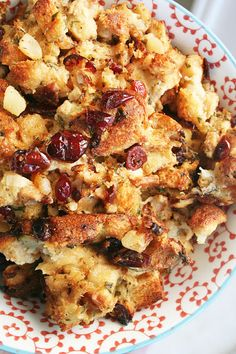 The BEST Stuffing. EVER. A must make this Thanksgiving - Apple-Cranberry Stuffing