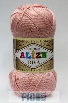 Poze Fir de tricotat sau crosetat - Fir microfibra ALIZE DIVA ROZ 363 Diva, Coil Out, Tricot, Godly Woman