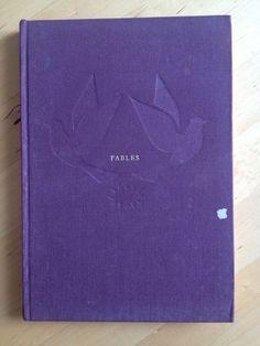 #littérature : Fables de Jean Anouilh. La Guilde du Livre, sans date (mais supérieure ou égale à 1962). 150 pp. reliées.  Edition hors commerce. Volume n°408.  Reliure d'éditeur toile violette.