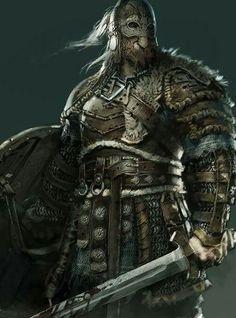 For Honor: The Vikings - Classes & Gameplay Fantasy Warrior, Fantasy Rpg, Medieval Fantasy, Dark Warrior, Viking Warrior, Character Portraits, Character Art, Fantasy Inspiration, Character Inspiration