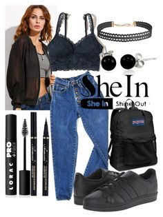 """""""Untitled #445"""" by the-fashion-fantasy ❤ liked on Polyvore featuring Hollister Co., PèPè, Humble Chic, adidas Originals, JanSport, LORAC and Bling Jewelry"""