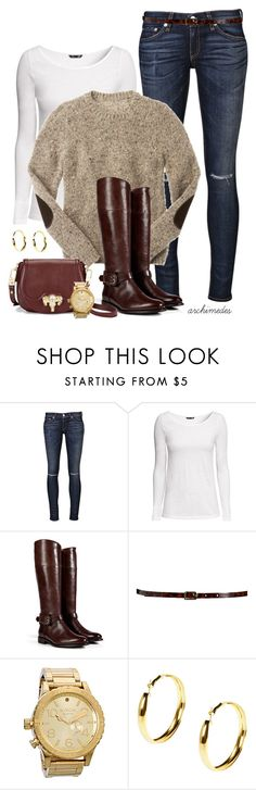 """""""Elbow Patches"""" by kellyloveschristmas ❤ liked on Polyvore featuring rag & bone, H&M, Burberry, Maison Boinet, C. Wonder, Nixon and Boohoo"""