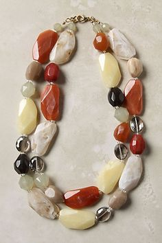 Inspiration: Sienna Tones Necklace from Anthropologie. Hmm, I think I can make a similar one myself!
