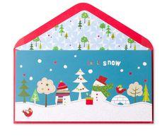 Let it Snow Money Enclosure Price $3.95 by Papyrus