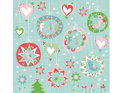 Christmas pattern by  Evelyn Lisi