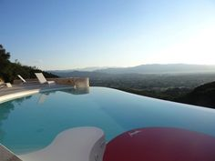 #minimal and #modern design with a #pool across #mountain views