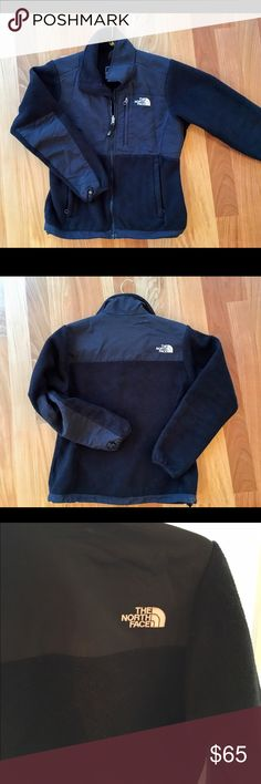 The North Face Women's Denali Classic Blk Fleece North Face Women's black classic fleece. All zippers and pockets in perfect condition. Some fuzzing which can be easily removed with lint roller. The sleeve snaps are both slightly ripped as pictured. Offers welcome! North Face Jackets & Coats