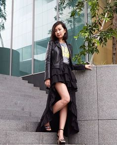 This street-chic look on senior digital writer @chihsplatter is curated from the 80-piece capsule wardrobe that we picked from the fashion brands in @ION_Orchard as part of its Spring/Summer17 Fashion From The Front Row campaign. Each item is marked with an Editors Pick label and today is the last chance shoppers can also sign up for ION Rewards to enjoy exclusive shopping privileges. Happy shopping! #iongraphy #ss17xionxelle On @chihsplatter: @sandroparis Leather Jacket; Printed Slogan Tee…