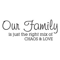 Wall Quotes Family is Chaos and Love Vinyl Wall Decal Home Decor Family Home Entry Crazy Family