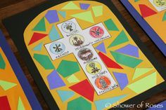Shower of Roses: The Seven Sacraments Stained Glass Window {Catechism Craft with Free Printable!}