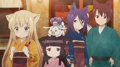 Episode 9 - Konohana Kitan - Anime News Network Neko, Glitter Force Costume, Best Animes Ever, Appian Way, Anime News Network, Fox Spirit, Cute Creatures, Wolverine, Me Me Me Anime