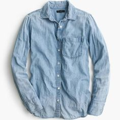 J.Crew Womens Always Chambray Shirt (Size 10)