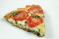 spinach- tomato tart