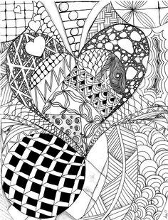 Valentines Zentangle by colorsarebeatiful.deviantart.com on @DeviantArt