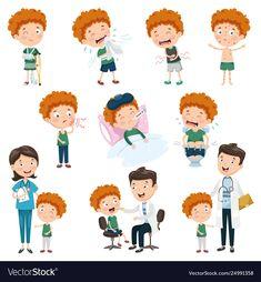 Cartoon character vector image on VectorStock Free Vector Images, Vector Free, Kids Planner, Cartoon Characters, Fictional Characters, Easy Drawings, Baby Toys, Adobe Illustrator, Activities