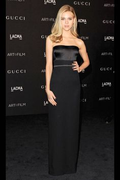 See Nicola Peltz's look and others from the Gucci presented, LACMA Gala.