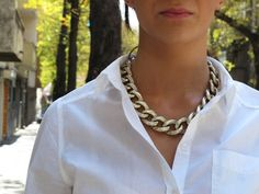 chunky necklace ...