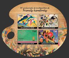 "NIG 14124 aWassily Kandinsky (""Autumn Landscape"" 1911, ""Transverse Line"" 1923, ""Empty Green"" 1930, ""Blue"" 1925)"