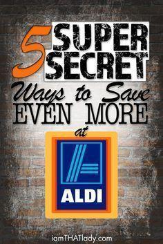 5 Super Secret Ways to save even more at ALDI - Lauren Greutman Aldi Grocery Store, Aldi Shopping, Shopping Hacks, Store Hacks, Cheap Shopping, Grocery Items, Frugal Living Tips, Frugal Tips, Frugal Family
