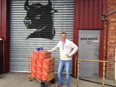 Rob loading the award winning Extra Special Beer (ESB) cases