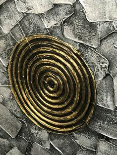Metálico plata oro negro impasto pintura pintura del arte