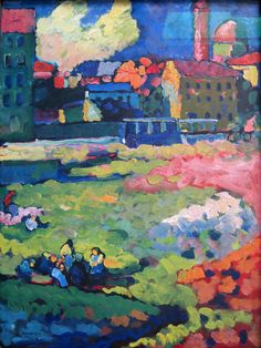 ۩۩ Painting the Town ۩۩ city, town, village & house art - Kandinsky, Munich Before the City